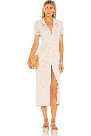 Lovers + Friends Donna Vestiti longuette - Kayce Midi Dress in - Neutral. Size L (also in XXS, XS, S, M, XL).