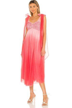 LOVESHACKFANCY Romia Dress in - Pink. Size 0 (also in 2, 4, 6).