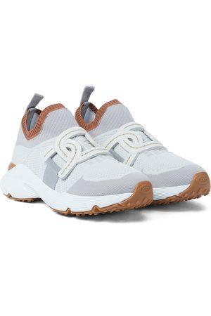 Tod's Sneakers in maglia stretch e pelle