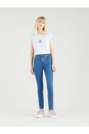 Levi's Donna Skinny - 721™ High Rise Skinny Jeans Dark Indigo / Bogota Heart