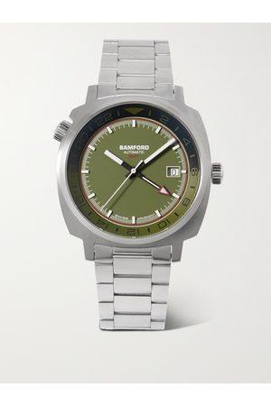 BAMFORD LONDON Uomo Orologi - GMT Automatic 40mm Stainless Steel Watch