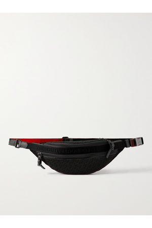 CHRISTIAN LOUBOUTIN Uomo Cinture - Leather-Trimmed Logo-Jacquard Coated-Canvas Belt Bag