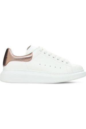 Alexander McQueen Donna Sneakers - Sneakers In Pelle Con Dettaglio Metallizzato 45mm