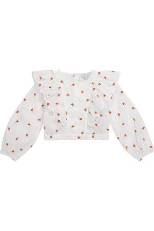 Stella McCartney Bambina Bluse - Blusa in cotone con ricami floreali