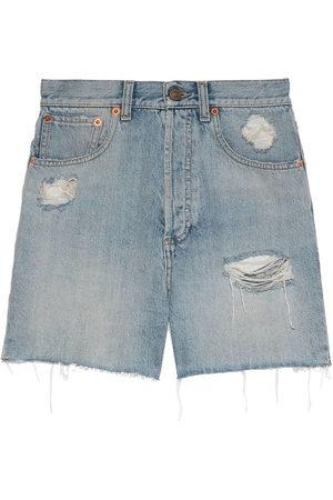 Gucci Donna Pantaloncini - Shorts denim GG