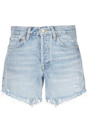AGOLDE Donna Pantaloncini - Shorts denim a vita alta Parker