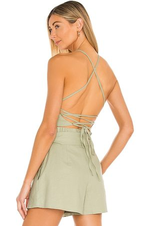House of Harlow X Sofia Richie Natalie Top in - Sage. Size L (also in XS, S, M, XL).