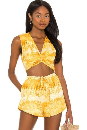 House of Harlow X Sofia Richie Louisa Top in - Yellow. Size L (also in XXS, XS, S, M, XL).