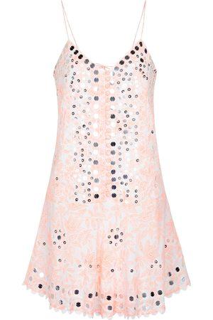 Juliet Dunn Donna Vestiti estivi - Miniabito in cotone con paillettes