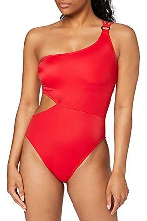 IRIS & LILLY Marchio Amazon - Costume da Bagno con Cut out Donna, Multicolore ., M, Label: M