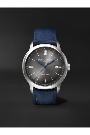 Baume & Mercier Uomo Orologi - Classima Automatic 42mm Stainless Steel and Canvas Watch, Ref. No. M0A10608