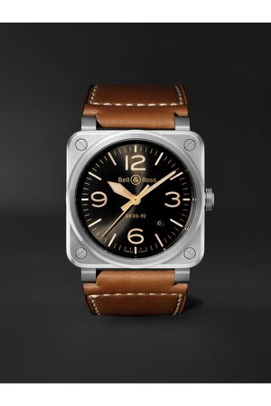 Bell & Ross BR 03-92 Golden Heritage Limited Edition Automatic 42mm Stainless Steel and Leather Watch, Ref. No. BR0392-GH-ST/SCA