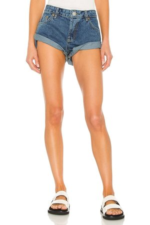 ONE TEASPOON Donna Pantaloncini - Bandits Low Waist Denim Short in - Blue. Size 25 (also in 22, 23, 24, 26, 27, 28, 29, 30, 31, 32).