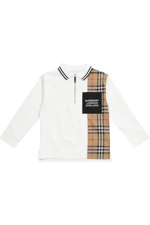 Burberry Kids Polo in cotone stretch