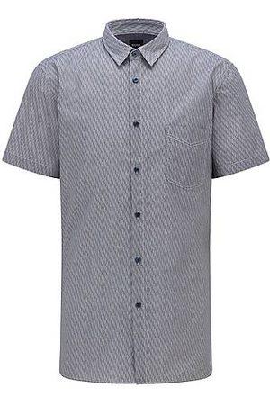 HUGO BOSS Camicia slim fit in cotone elasticizzato stampato