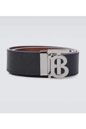 Burberry Uomo Cinture - Cintura double-face in pelle