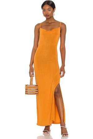 Free People Bare It All Bodycon Dress in - Orange. Size L (also in XS, S).