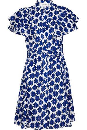 Diane von Furstenberg Miniabito Alice in cotone con stampa floreale