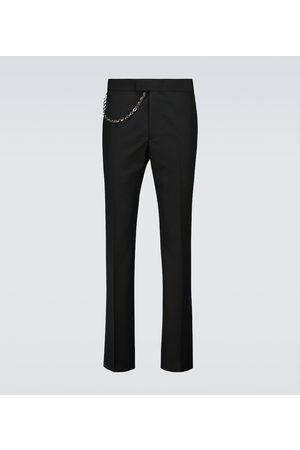 Givenchy Pantaloni in lana con catena