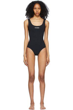 Jil Sander Donna Costumi interi - Black Logo One-Piece Swimsuit