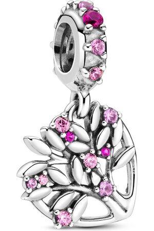 PANDORA Charm Pendente A Cuore Rosa Albero Della Famiglia