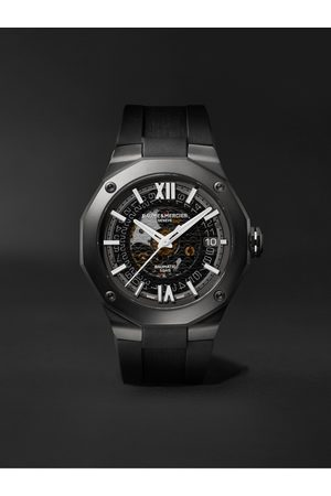 Baume & Mercier Uomo Orologi - Riviera Automatic 42mm ADLC-Coated Stainless Steel and Rubber Watch, Ref. No. 10617