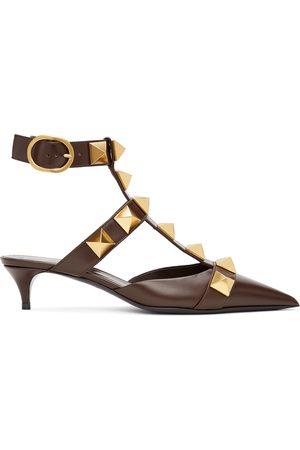VALENTINO GARAVANI Donna Scarpe con i tacchi - Brown Medium Roman Stud Heels
