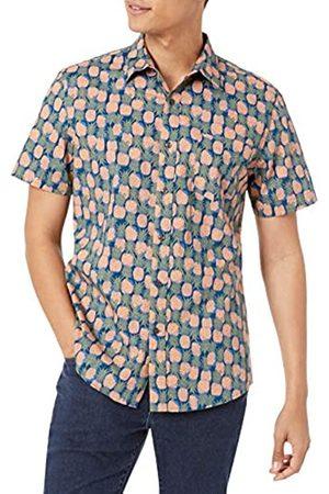 Amazon Slim-Fit Short-Sleeve Print Shirt Camicia, , L