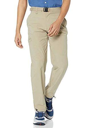 Amazon Pantaloni da Trekking con Cintura, Khaki Chiaro, 36W / 32L