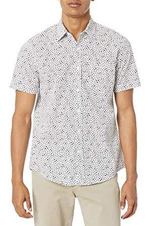Amazon Camicia a Maniche Corte con Stampa Slim Fit Athletic-Shirts, /Navy Micro Geo, XXL