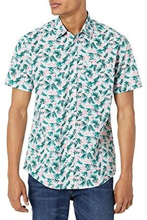 Amazon Camicia a Maniche Corte con Stampa Button-Down-Shirts, Flamingo, XL