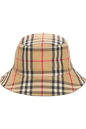 Burberry Cappello Bucket In Misto Cotone Check