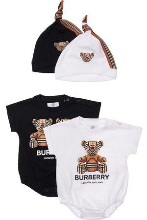 Burberry Set Di 2 Body E Cuffiette In Cotone