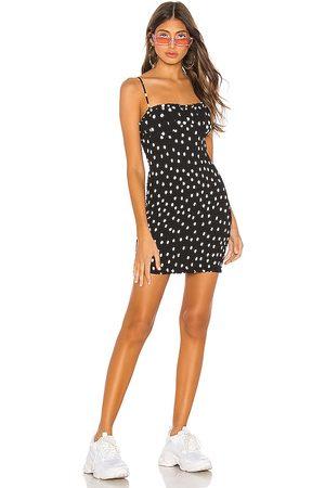 h:ours Bellah Mini Dress in - Black. Size M (also in XXS, XS, S, XL).