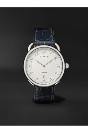 Hermès Montre Arceau Automatic 40mm Stainless Steel and Alligator Watch, Ref. No. 55547WW00