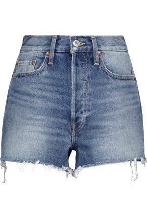 RE/DONE Shorts di jeans 70s a vita alta