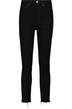 RE/DONE Jeans skinny a vita alta cropped