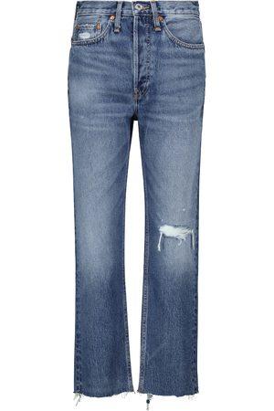 RE/DONE Jeans a vita alta distressed