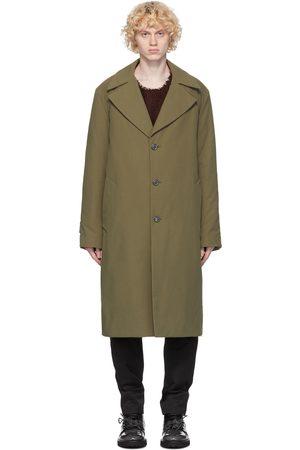 Maison Margiela Uomo Impermeabili - Green Cotton Twill Trench Coat