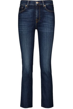 7 for all Mankind Donna Jeans a vita alta - Jeans The Straight Crop a vita media