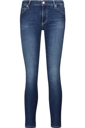 AG Jeans Donna Jeans a vita alta - Jeans skinny Legging Ankle a vita media