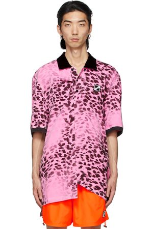We11 Done Uomo Polo - Pink Leopard All Over Polo