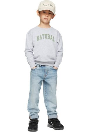 Museum Of Peace & Quiet Felpe - SSENSE Exclusive Kids Grey 'Natural' Little Kids Sweatshirt