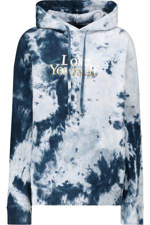 Paco Rabanne Donna Hoodies - Felpa tie-dye in cotone con cappuccio