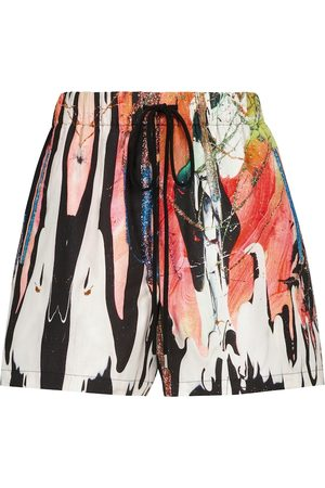 Christopher Kane Shorts Mindscape in cotone con stampa