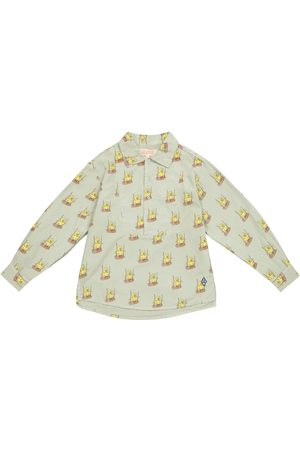 The Animals Observatory Bambina Bluse - Blusa Mandrill a stampa in cotone