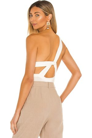 The Line by K Donna Body - Aisling Bodysuit in - Cream. Size L (also in XS, S, M).