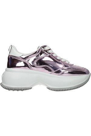 Hogan Donna Sneakers - Sneakers maxi i active Donna Pelle Metallizzato