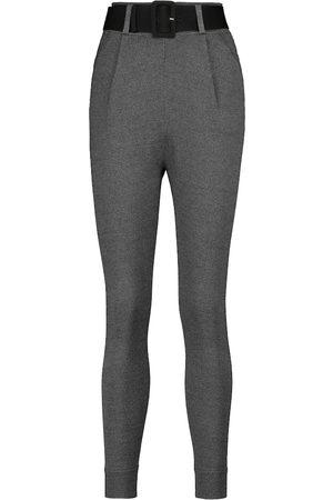 Self-Portrait Pantaloni slim con cintura