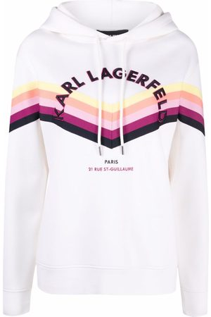 Karl Lagerfeld Felpa a righe con coulisse